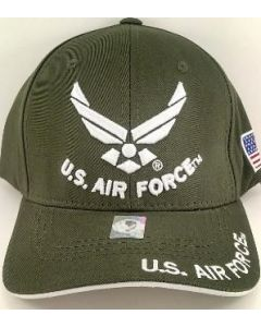 United States Air Force Hat U.S. Air Force w/Wings - Olive A04AIA03-OLV/WHT