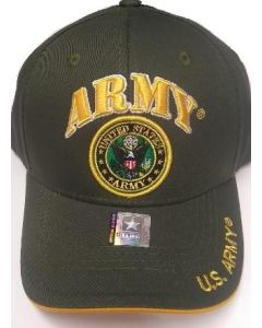 United States Army Hat with Army Seal - Olive A04ARM03 OLV/GD