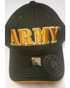 """United States """"ARMY"""" Hat With Seal A04ARM02-OLV/GD"""