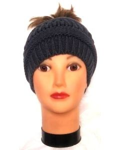 Ski Hat Pony Tail HT-783