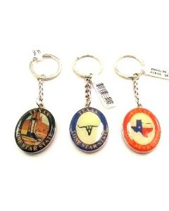 KC (Keychain)  66424 Texas Lone Star SOLD BY THE DOZEN