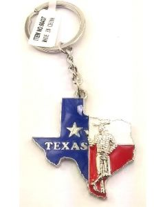 KC (Keychain) 66437 Texas State w/Cowboy SOLD BY THE DOZEN