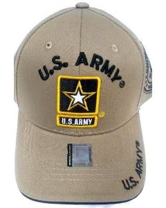 United States Army Hat with Star Logo - A04ARM01 KHK/BK