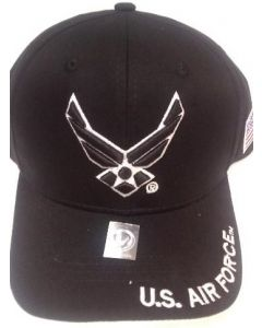 United States Air Force Wings Hat - A04AIA02 BK/WHT