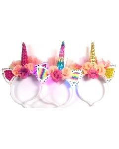 Unicorn Light Up Head Band 6342 SOLD BY THE DOZEN