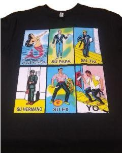 Loteria Adult Multi Print T-Shirt- Mens