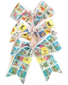 Loteria Hair Bow HPN-5286 SOLD BY THE DOZEN