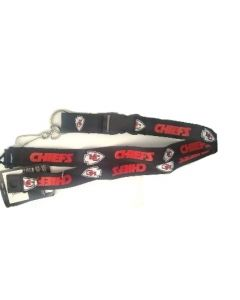 NFL Kansas City Chiefs Black Lanyard