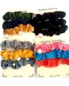 Hair Scrunchies-Velvet BEB-60177C SOLD BY THE DOZEN