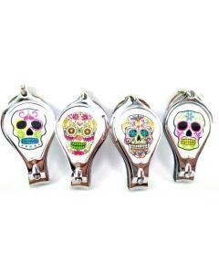 KC (Keychain) Sugar Skull Nail Clipper BKC-60036A SOLD BY DOZEN