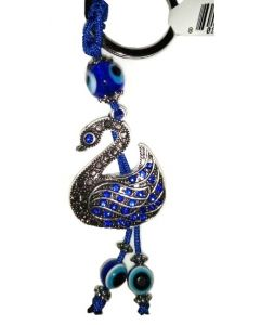 KC (Keychain) 68145 Swan w/Blue Stones SOLD BY THE DOZEN