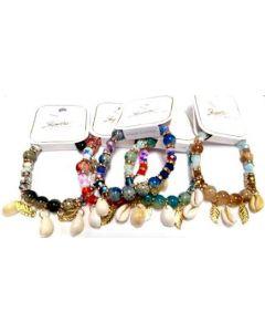 Fashion Jewelry- Shell Bracelet BRC-4642 SOLD BY DOZEN