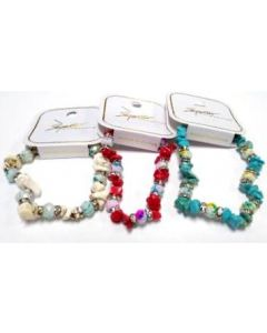 Fashion Jewelry- Turquoise Bracelet BRC-4382 SOLD BY THE DOZEN