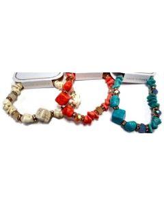 Fashion Jewelry- Stone Bracelet BRC-4654 SOLD BY DOZEN