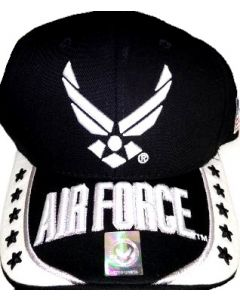 United States Air Force Hat- Wings Logo w/Stars A04AIA27-BK