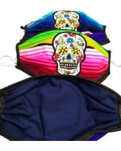 Face Mask - Made In Mexico- Sarrape SUGAR SKULL/LA CATRINA