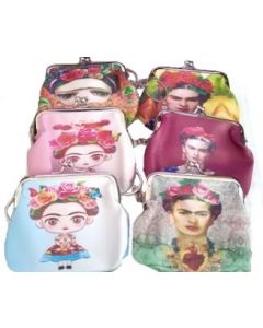 Coin Purse - Frida BKC-60111BN SLOLD BY THE DOZEN