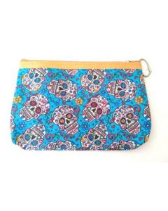 Make Up Bag - Sugar Skull BKC-60113C SOLD  BY DOZEN
