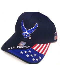 United States Air Force Hat Wings w/Flag Bill-A04AIA26-NAV