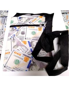 $100 Bill Side Purse BG-055 SOLD BY THE DOZEN
