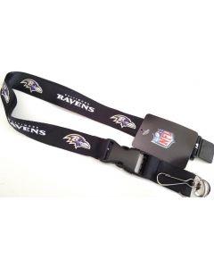 NFL Baltimore Ravens Black Lanyard PSG