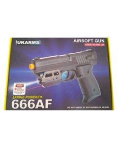 Airsoft Gun - 666AF w/Laser&Light