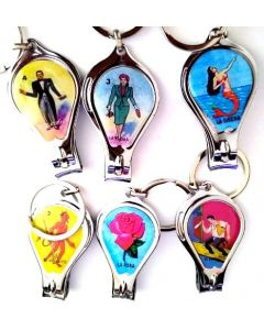 Loteria Keychain KY-394 Nail Clipper SOLD BY THE DOZEN