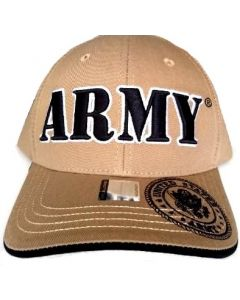 """United States """"ARMY"""" Hat With Seal A04ARM02-KHK/BK"""