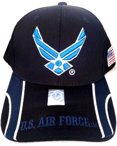 United States Air Force Hat- Wings A04AIA24-BK/BK