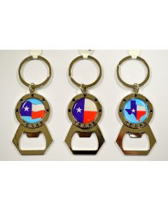 KC (Keychain) - 66403 Texas Flag Opener SOLD BY THE DOZEN