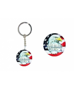 KC (Keychain) USA/God Bless Eagle 69534 SOLD BY DOZEN