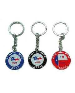 KC (Keychain)  66410 I Love Texas Flag SOLD BY THE DOZEN