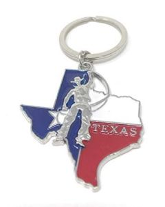KC (Keychain)  66431 Texas Cowboy Map SOLD BY THE DOZEN