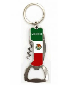 KC (Keychain) 67686 Mexico Flag Opener SOLD BY THE DOZE
