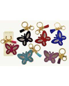 KC (Keychain) 69009 Bling Butterfly SOLD BY THE DOZEN