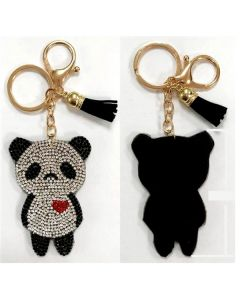 KC (Keychain)  69010 Rhinestone Panda SOLD BY THE DOZEN