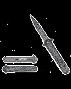 Knife KS33188-3 Black/White Feather Design