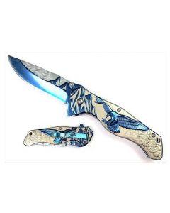 Knife - TITANIUM BLUE EAGLE KS3778BL
