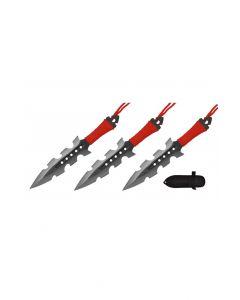 Knife T004208BK 3pc Throwing Set