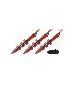"""Knife - T004208RD 4"""" Blade Throwing Knives"""