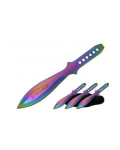 Knife - T00604 3pc Iridescent Throwing Knives