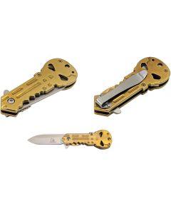 Knife - KS33197GD Skull Key