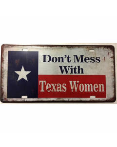 License Plate Texas Women