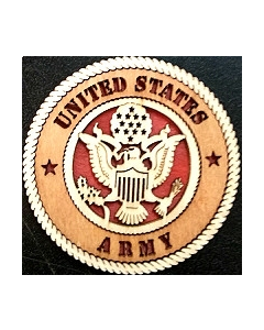 Texas Decor -  United States Army Wood Magnet Magnet