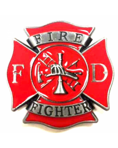 Texas Decor - Fire Fighter Metal Magnet