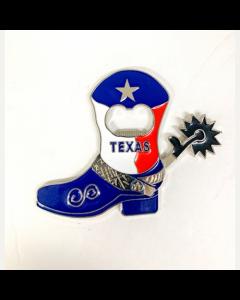 Magnet - Metal Texas Boot Opener CM-005