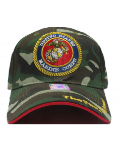 United States Marine Corps Military Hat Embroidered Seal - Camo