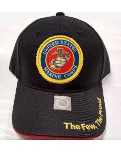 United States Marine Corps Military Hat - Woven Seal/Black