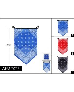 Half Mask - Bandanna AFM-2027  SOLD BY THE DOZEN