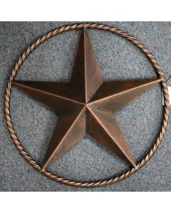Texas Decor - Metal  Star With Rope A12004